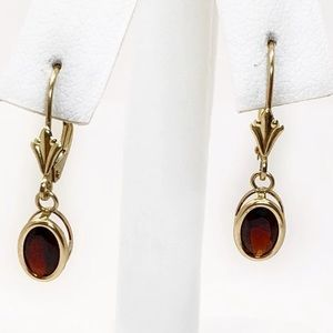 Jewelry - Garnet Dangling Earrings/Young girls